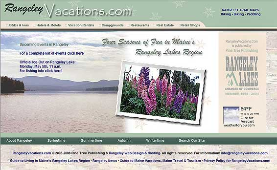 Rangeley Maine Vacations, Rangeley Travel Planner and Recreation Guide