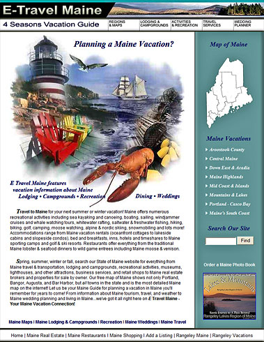 Maine Vacations Guide - lodging, recreation, restaurants, shops and more!